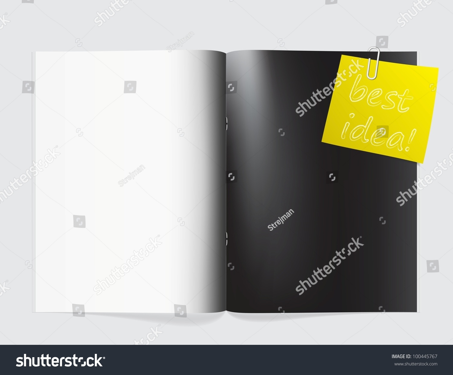 magazine blank page template for design layout stock vector save to a lightbox
