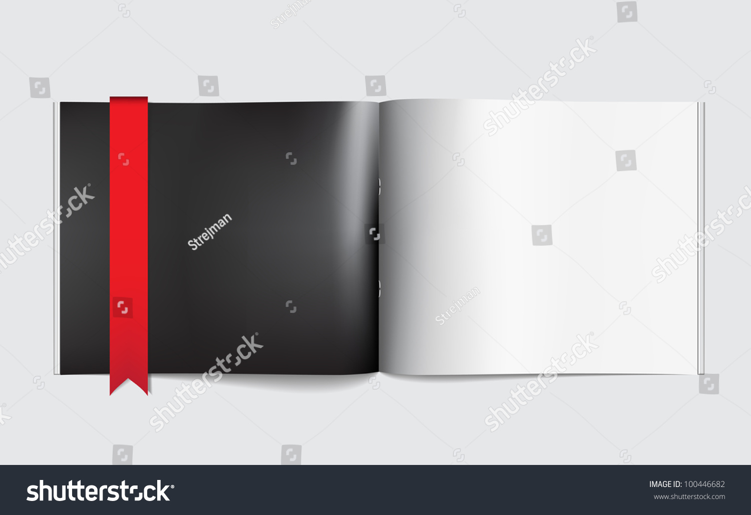 Magazine Blank Page Template Design Layout Stock Vector 100446682