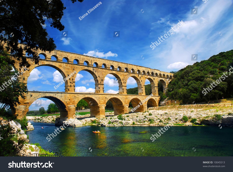 pont du gard is a part of roman aqueduct in southern. Black Bedroom Furniture Sets. Home Design Ideas