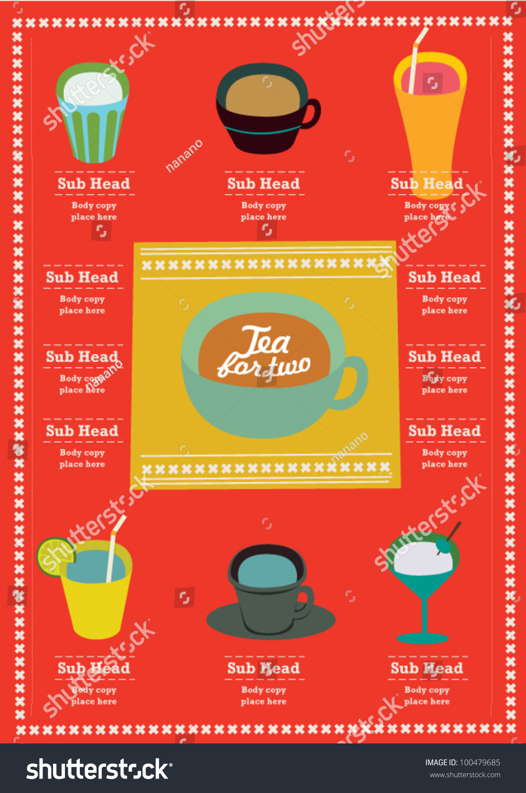 Info graphics cafe menu layout poster stock vector 100479685 info graphics cafe menu layout poster visual chart modern pattern design template vector pronofoot35fo Images