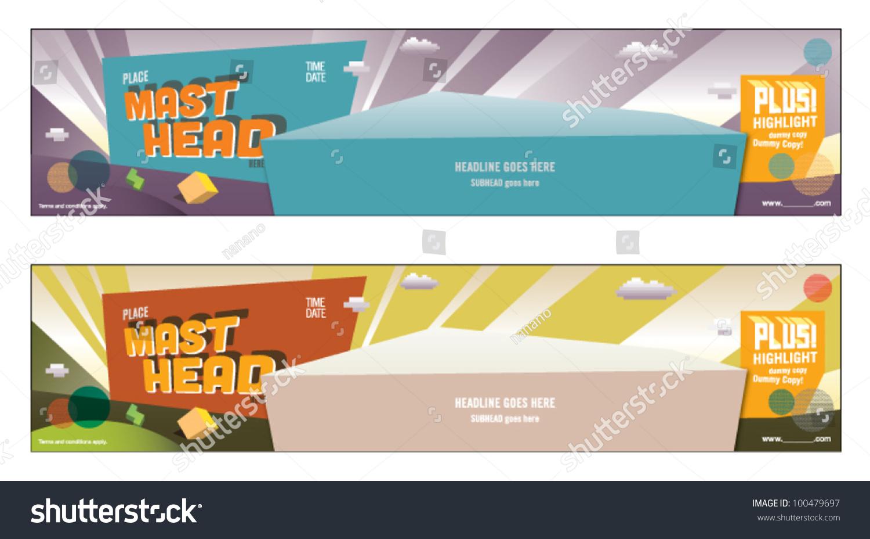 Web Banner Poster Design Layout Design Stock Vector 100479697 ...