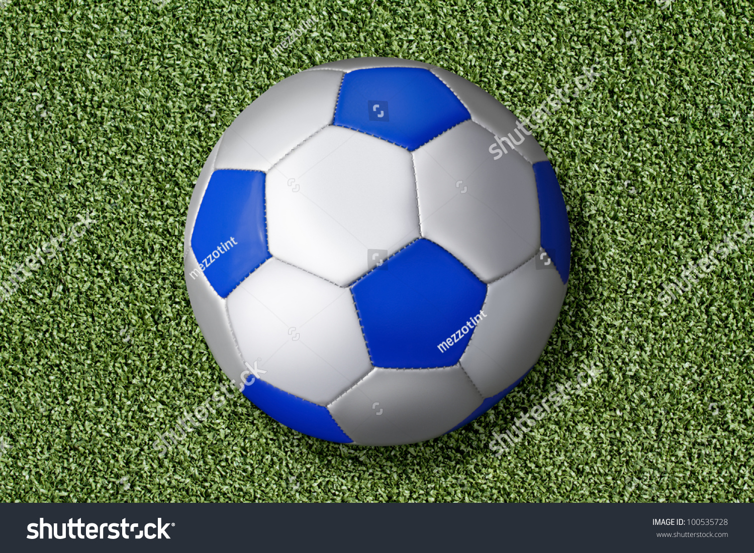checked football on artificial grass of a field stock photo 100535728   shutterstock