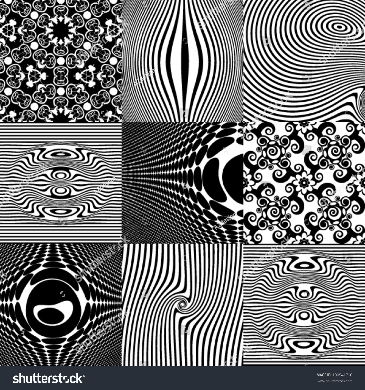 optical illusions abstract patterns vector elements shutterstock vectors