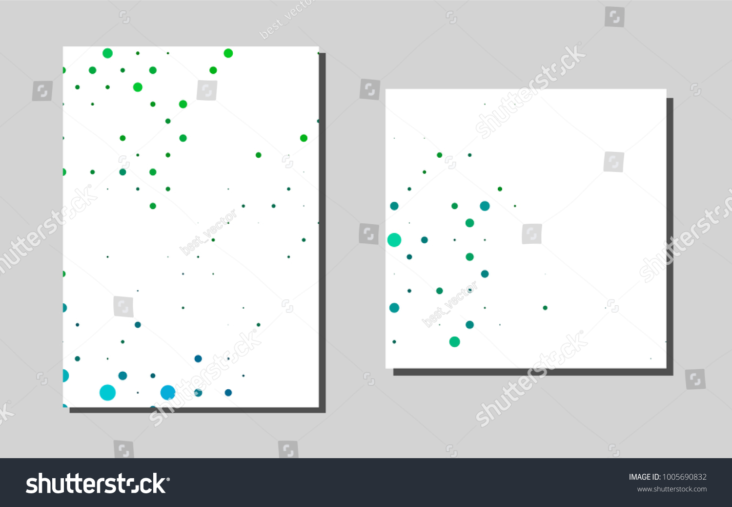 Light Blue Greenvector Template Landing Pages Stock Vector (2018 ...