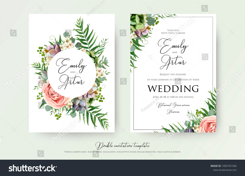 vetor stock de floral wedding invitation elegant invite thank livre