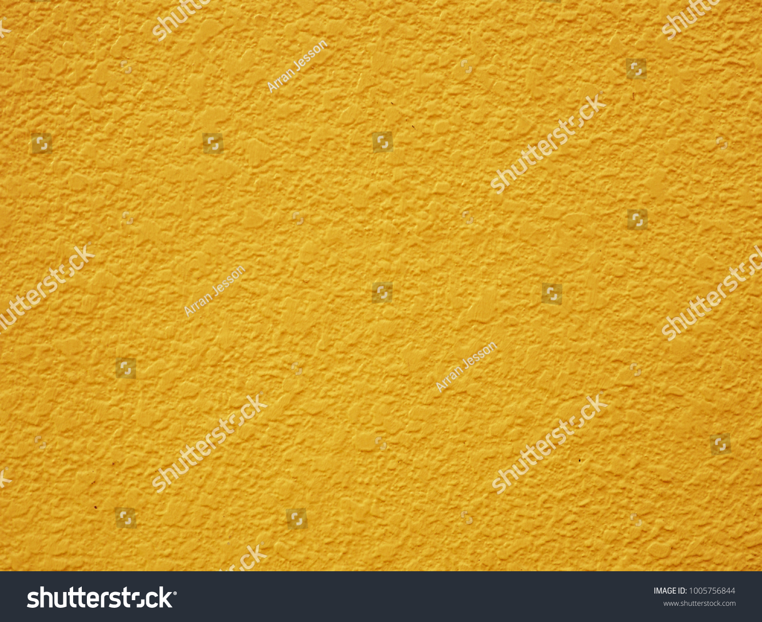 Painted Plaster Wall Background Bright Pastel Mustard Yellow Color Exterior With Authentic Texture