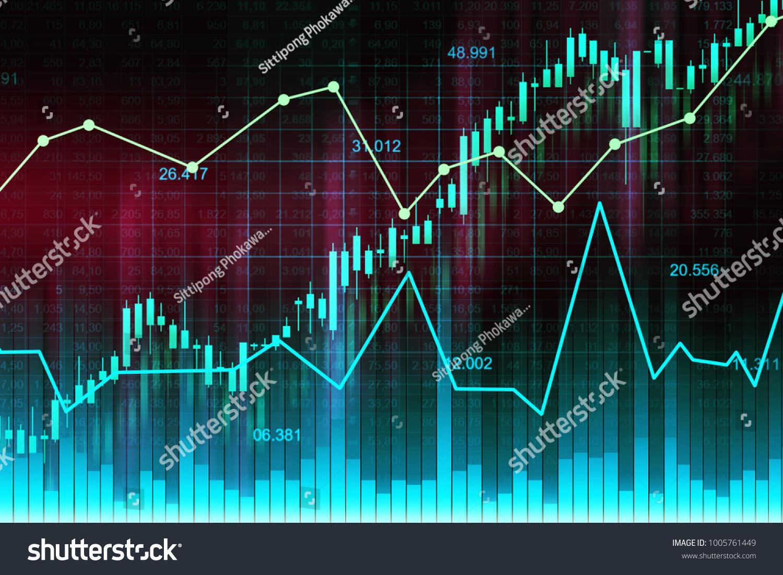 Stock Market Forex Trading Graph Candlestick Stock Illustration ...