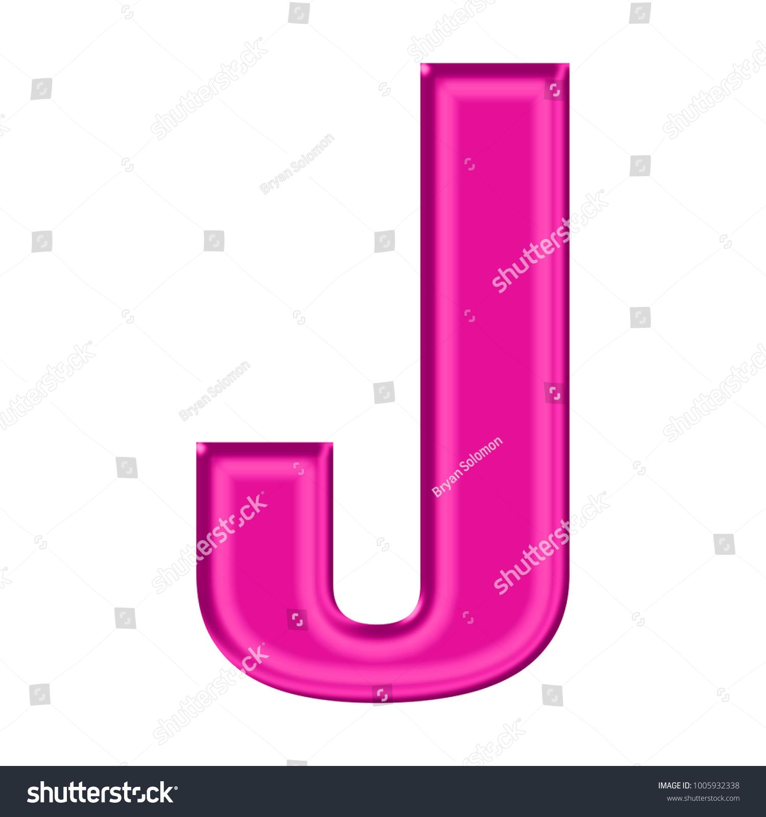 Shiny Plastic Pink Uppercase Capital Letter Stock Illustration ...