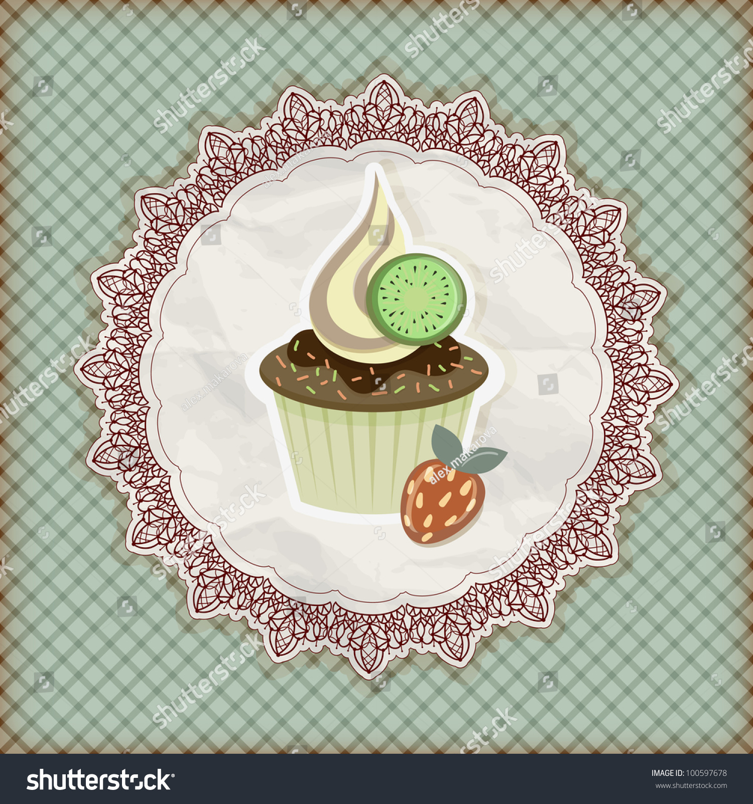 invitation template with cupcake stock photo 100597678 shutterstock