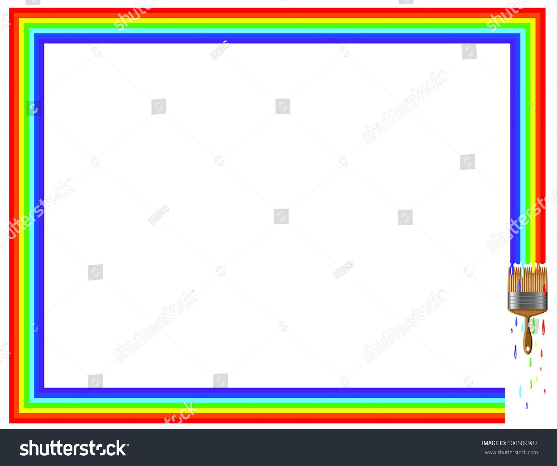 Rainbow Frame Vector Stock Vector (Royalty Free) 100609987 ...