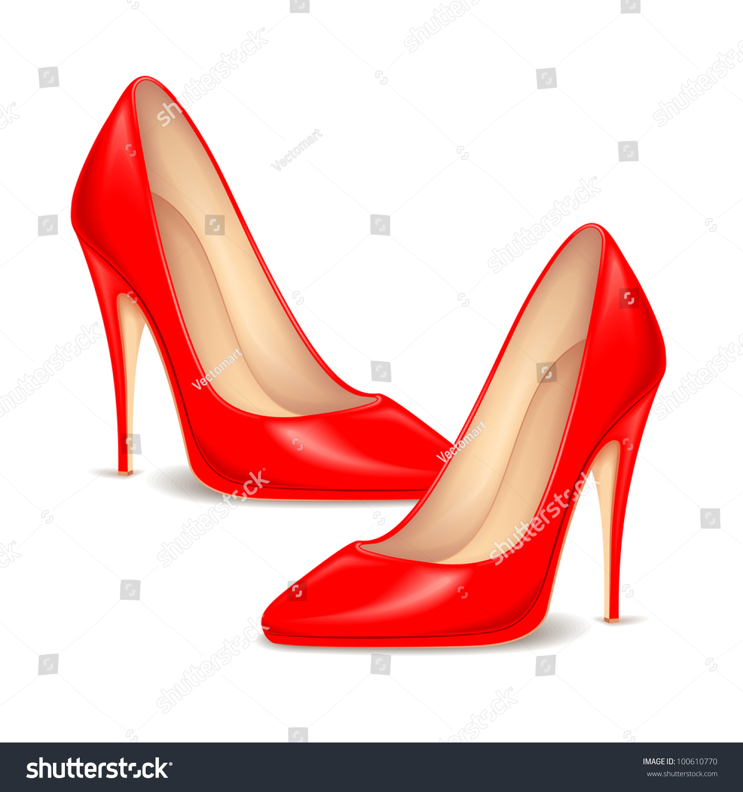 illustration pair high heel shoe stock vector
