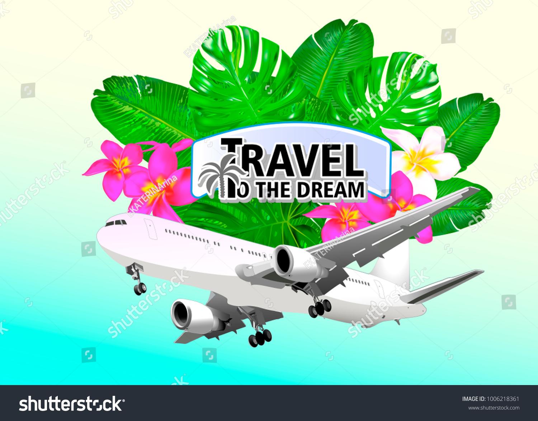 Travel Trip Dreamlogo Travel On Sticker Stock Vector 1006218361 ...