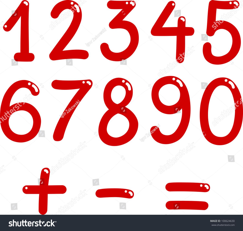 Illustration Numbers Zero Nine Math Symbols Stock Illustration