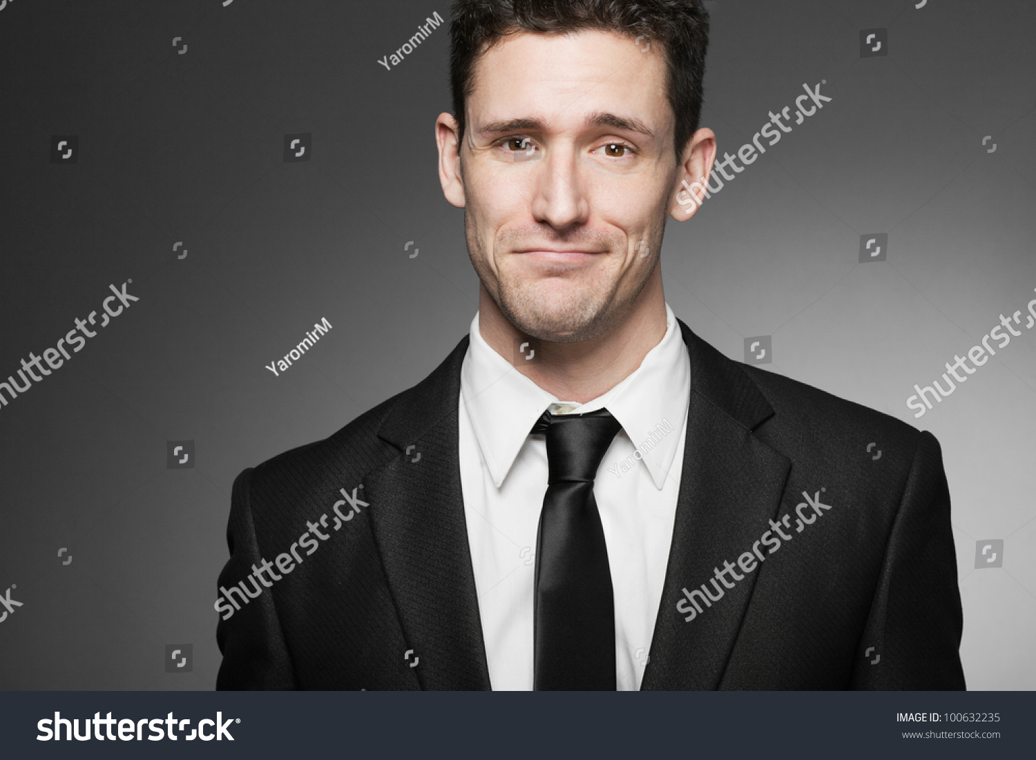Young Handsome Business Man White Shirt Stock Photo 100632235
