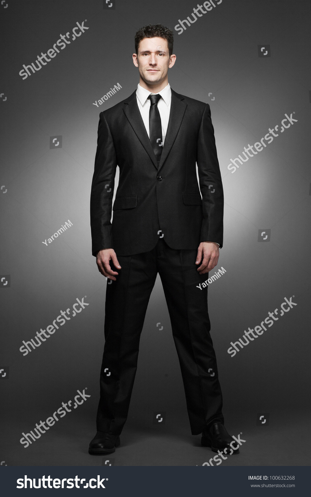 Young Handsome Business Man White Shirt Stock Photo 100632268