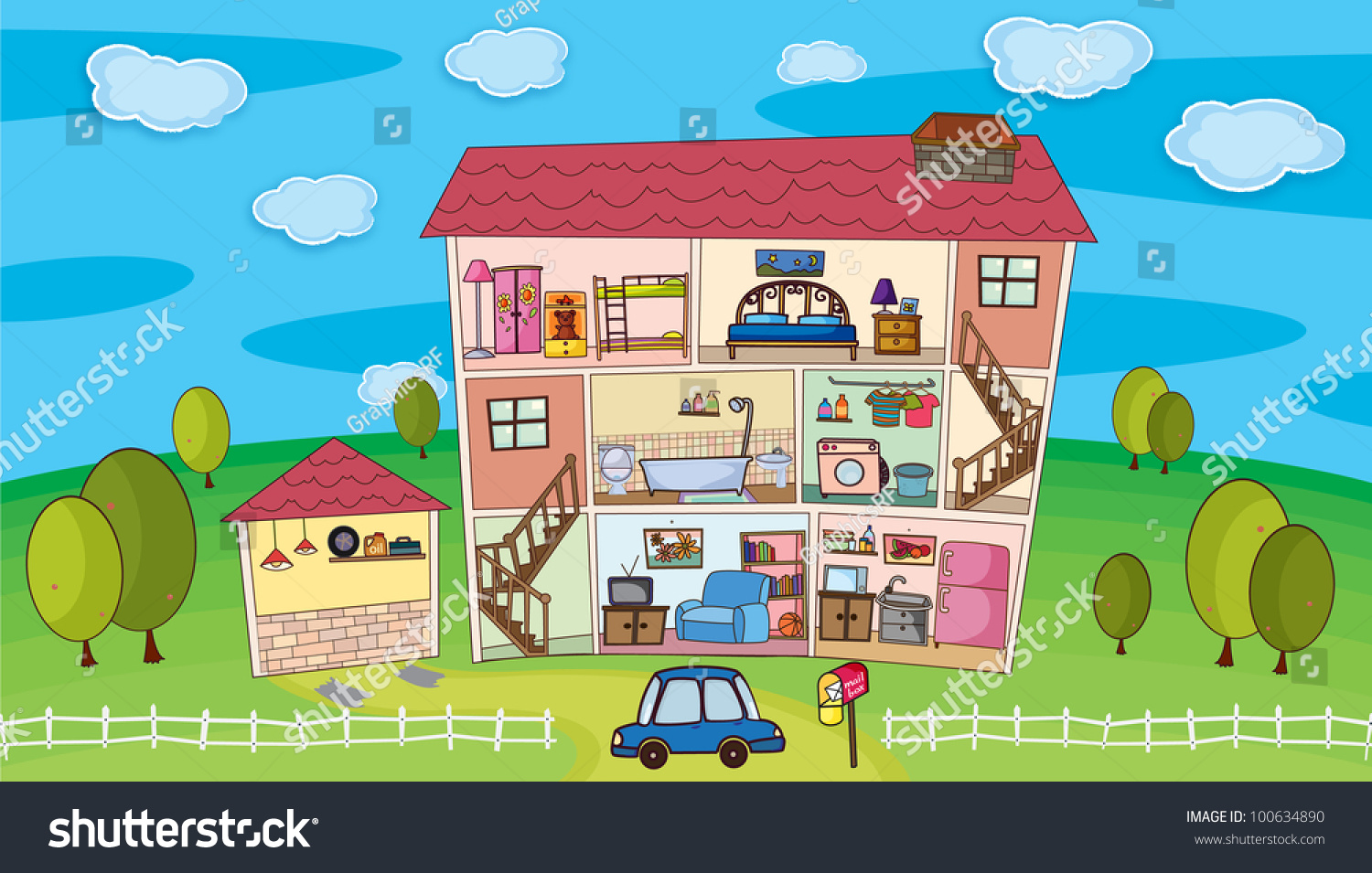 Illustration on inside a house eps vector format also available in my portfolio