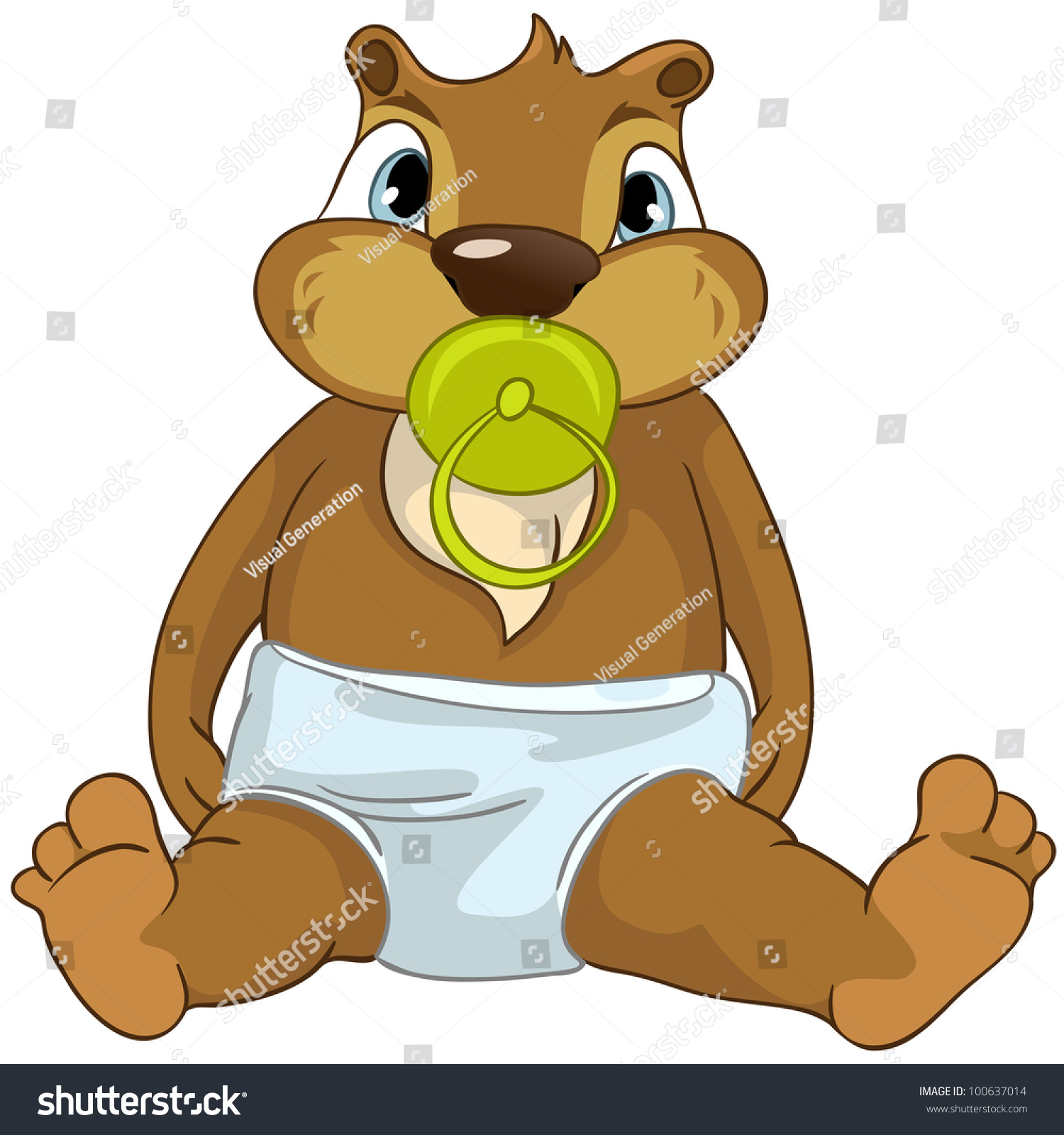 Beaver Baby Toy Stock Vector Cartoon Character Funny Beaver Isolated On