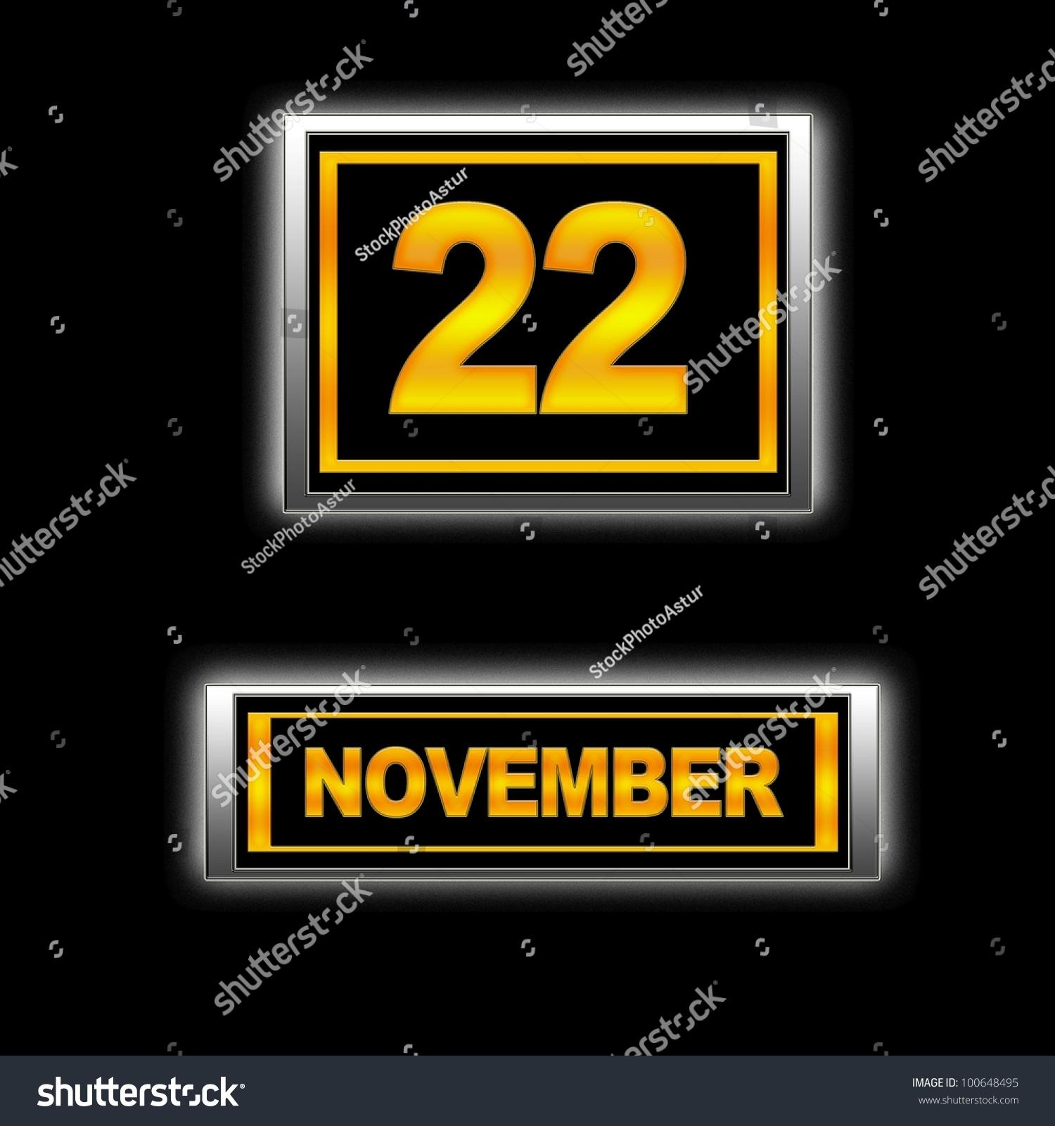 Calendar Illustration Search : Illustration with calendar november