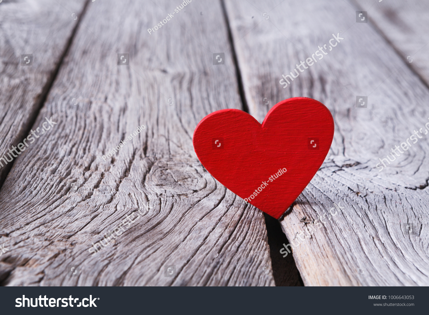 Valentine Day Red Handmade Heart On Stock Photo Edit Now