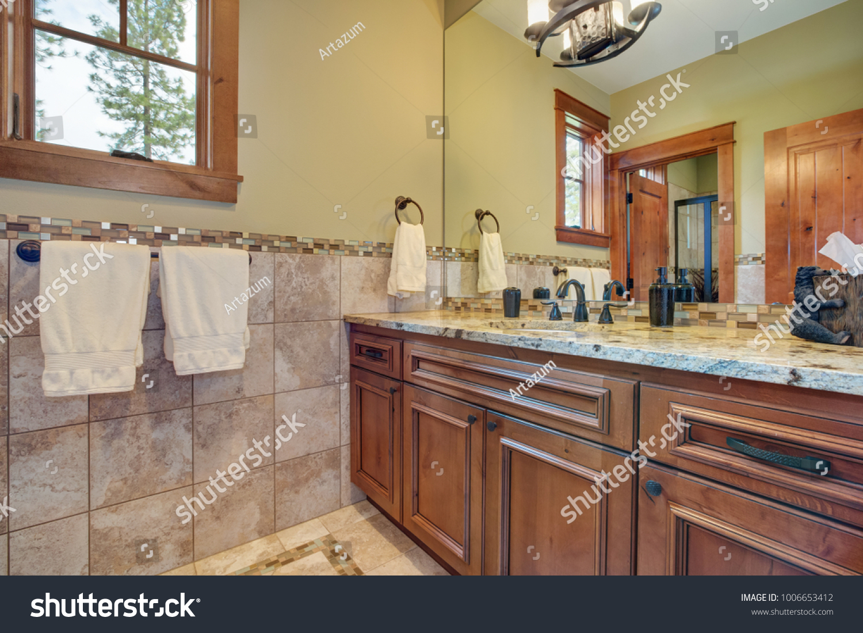 - Master Bathroom Interior Bathroom Vanity Topped Stock Photo (Edit