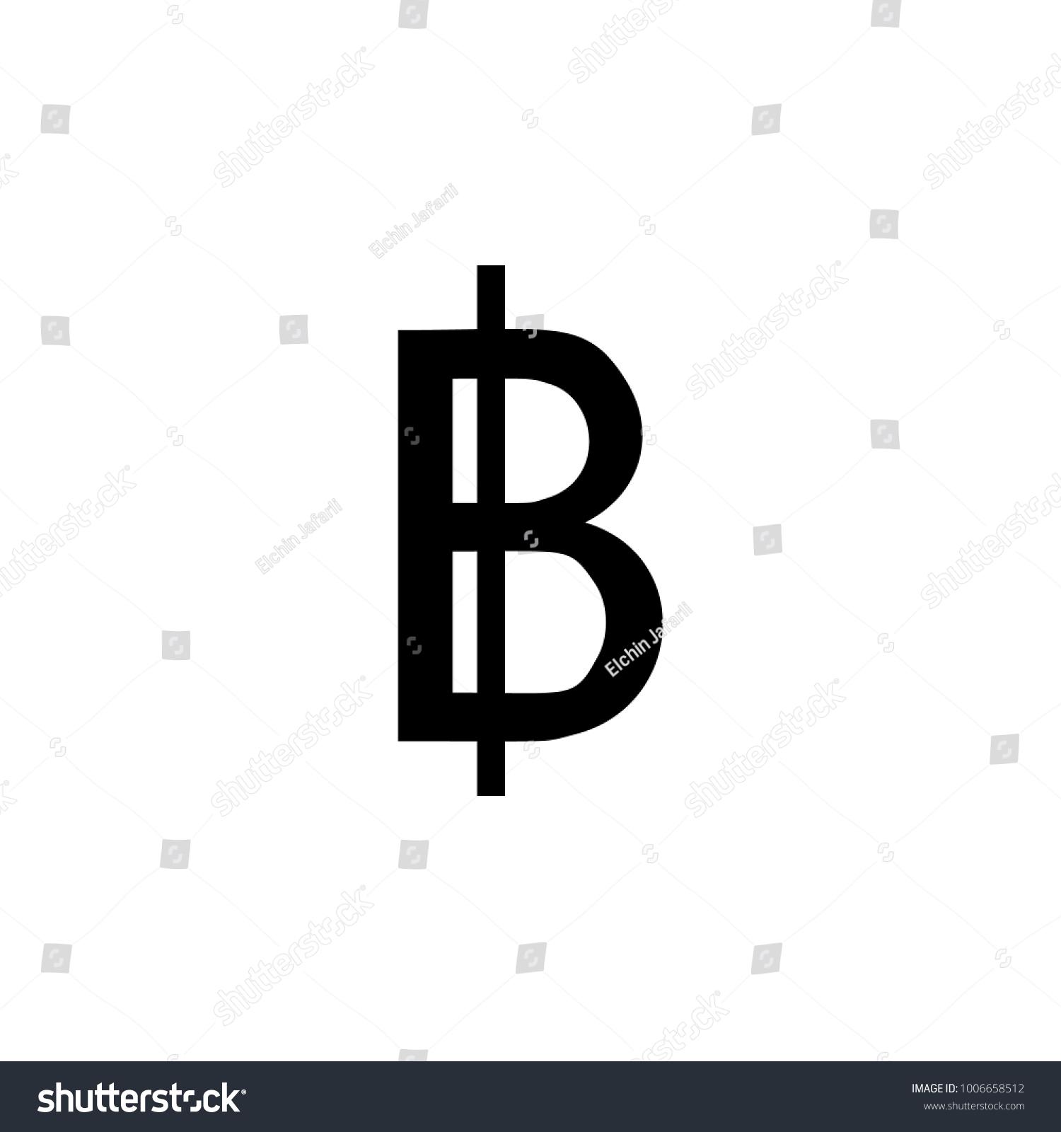 Sign Thai Bath Icon Element Money Stock Illustration 1006658512