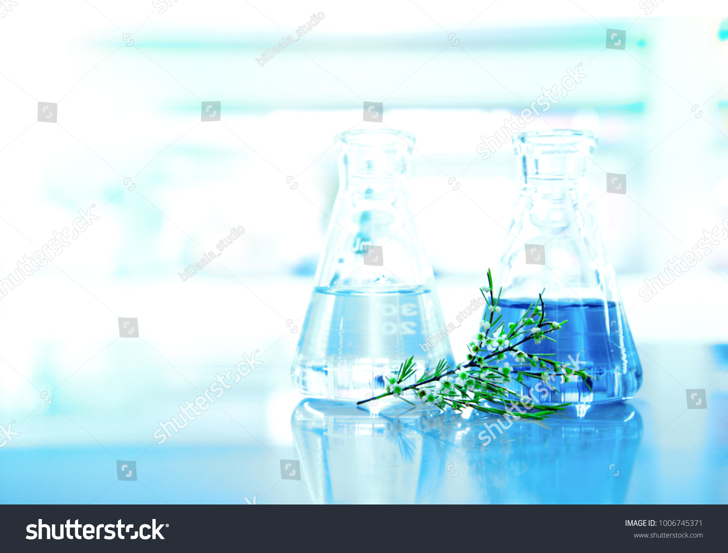 Blue Liquid Water Glass Flask White Stock Photo Edit Now