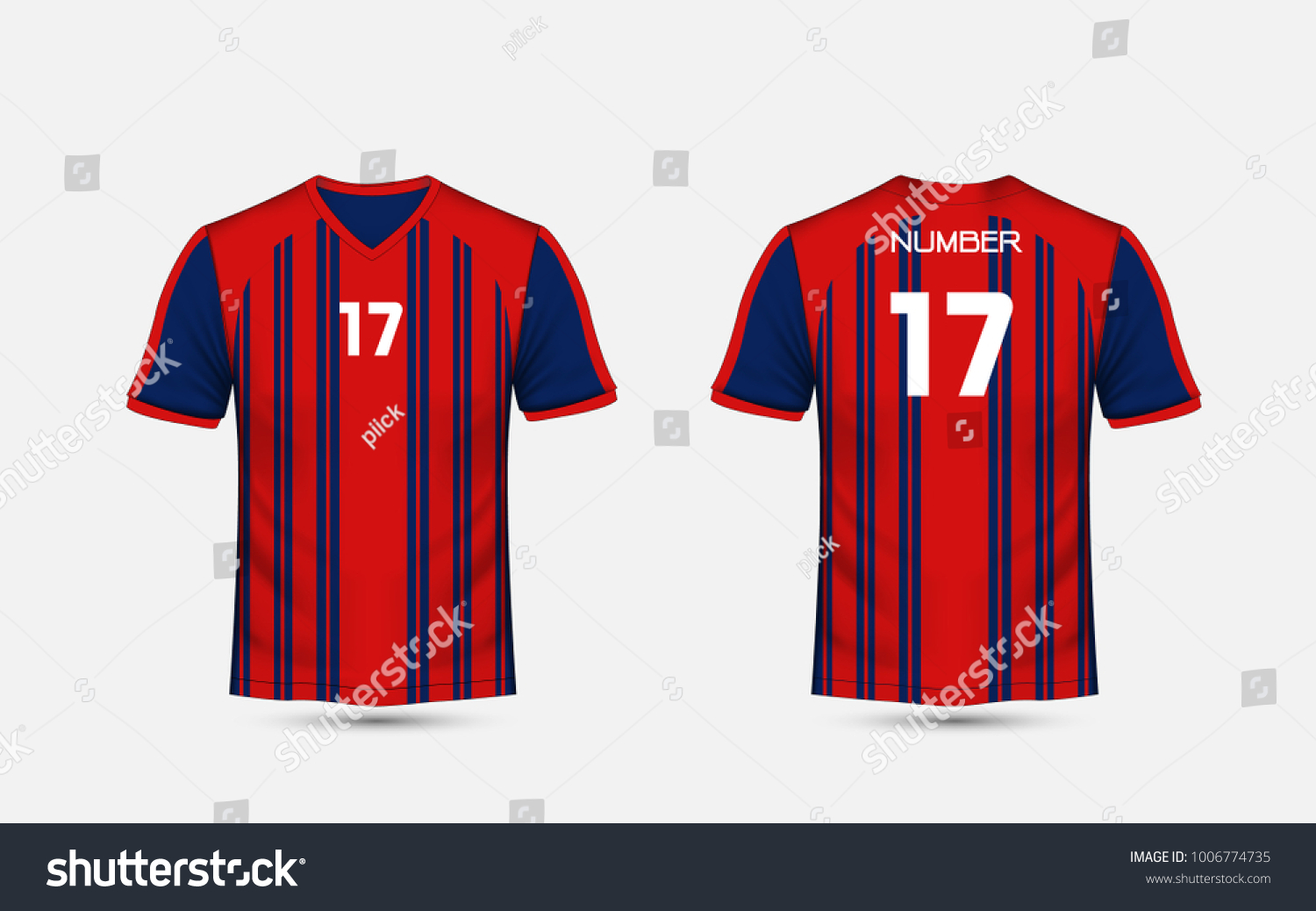 2f0a18986e23a Red Blue Stripe Pattern Sport Football Stock Vector (Royalty Free ...