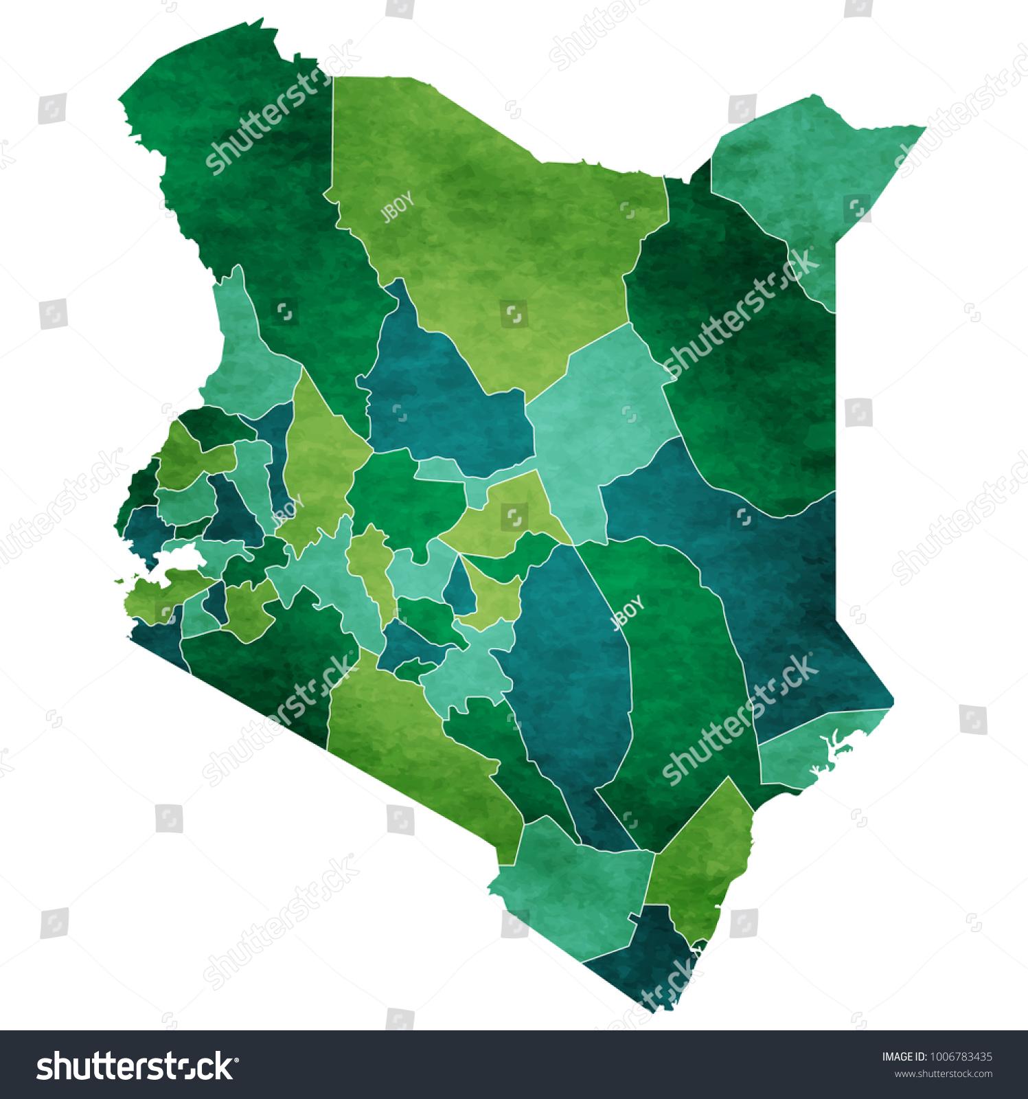 Image of: Vector De Stock Libre De Regalias Sobre Kenya World Map Country Icon1006783435
