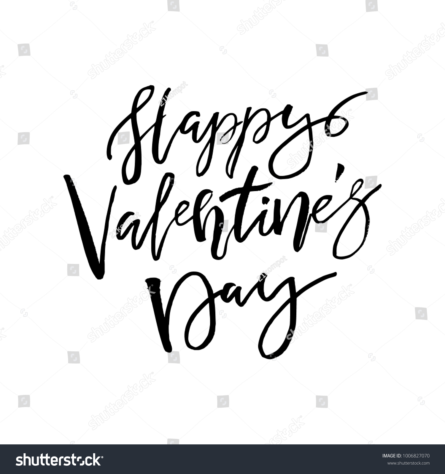 Happy valentines day card calligraphy text stock vector 1006827070 happy valentines day card with calligraphy text on white template for greetings congratulations kristyandbryce Image collections
