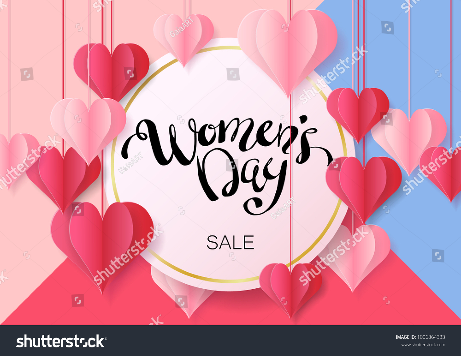 Womens day design greeting card can stock vector 1006864333 womens day design for greeting card can be used on banners or web 3d kristyandbryce Choice Image