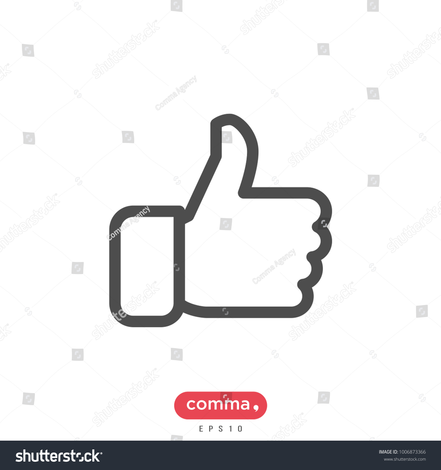 Thumbs vector icon like symbol stock vector 1006873366 shutterstock thumbs up vector icon like symbol buycottarizona Choice Image