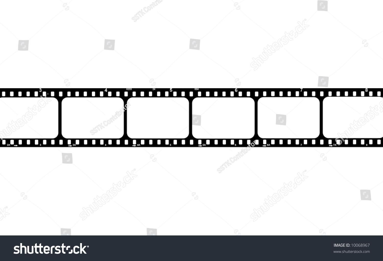 Film Strip Blank Frames Put Your Stock Illustration 10068967 ...