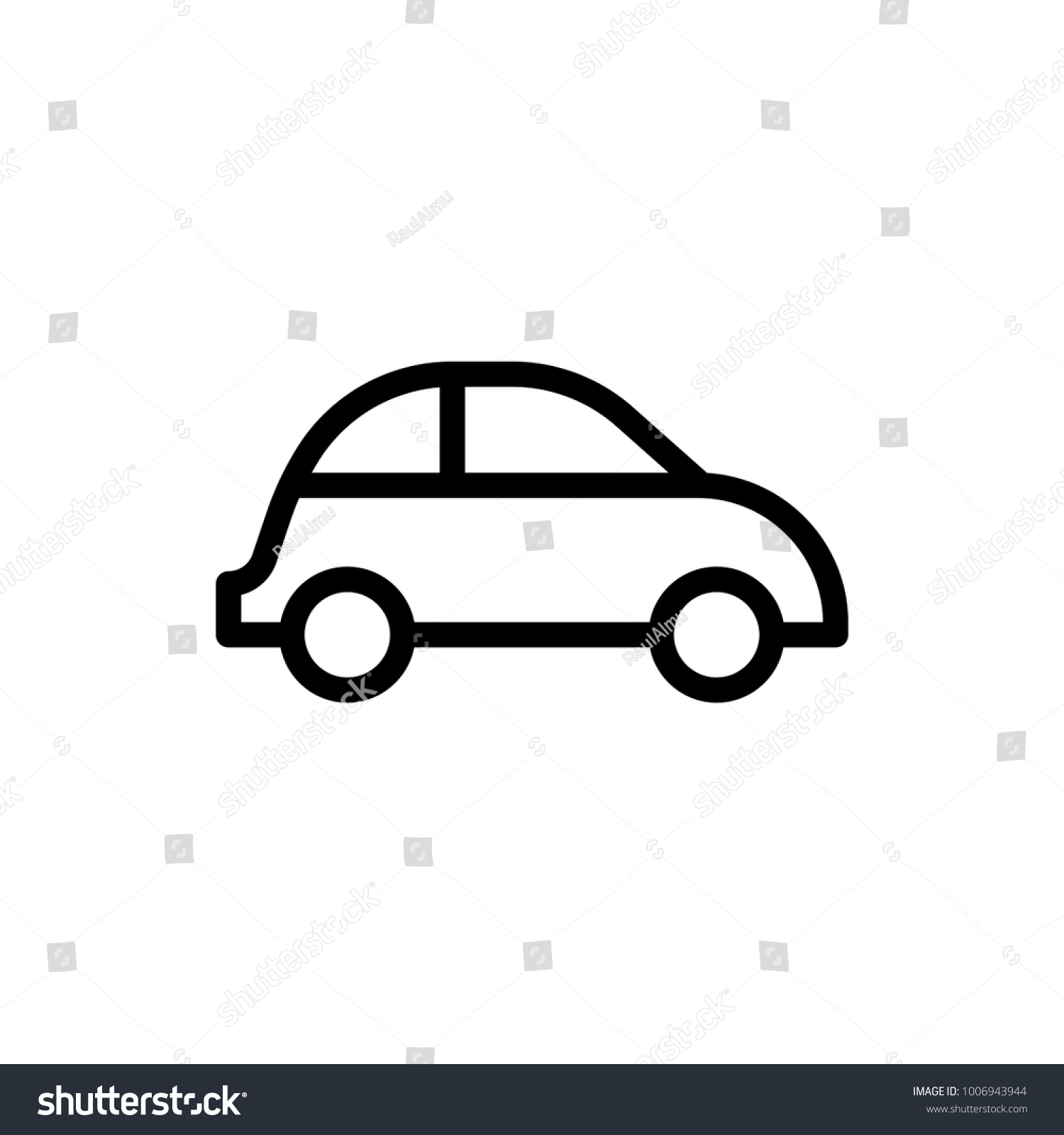 Car Flat Icon Single High Quality Stock Vector Royalty Free