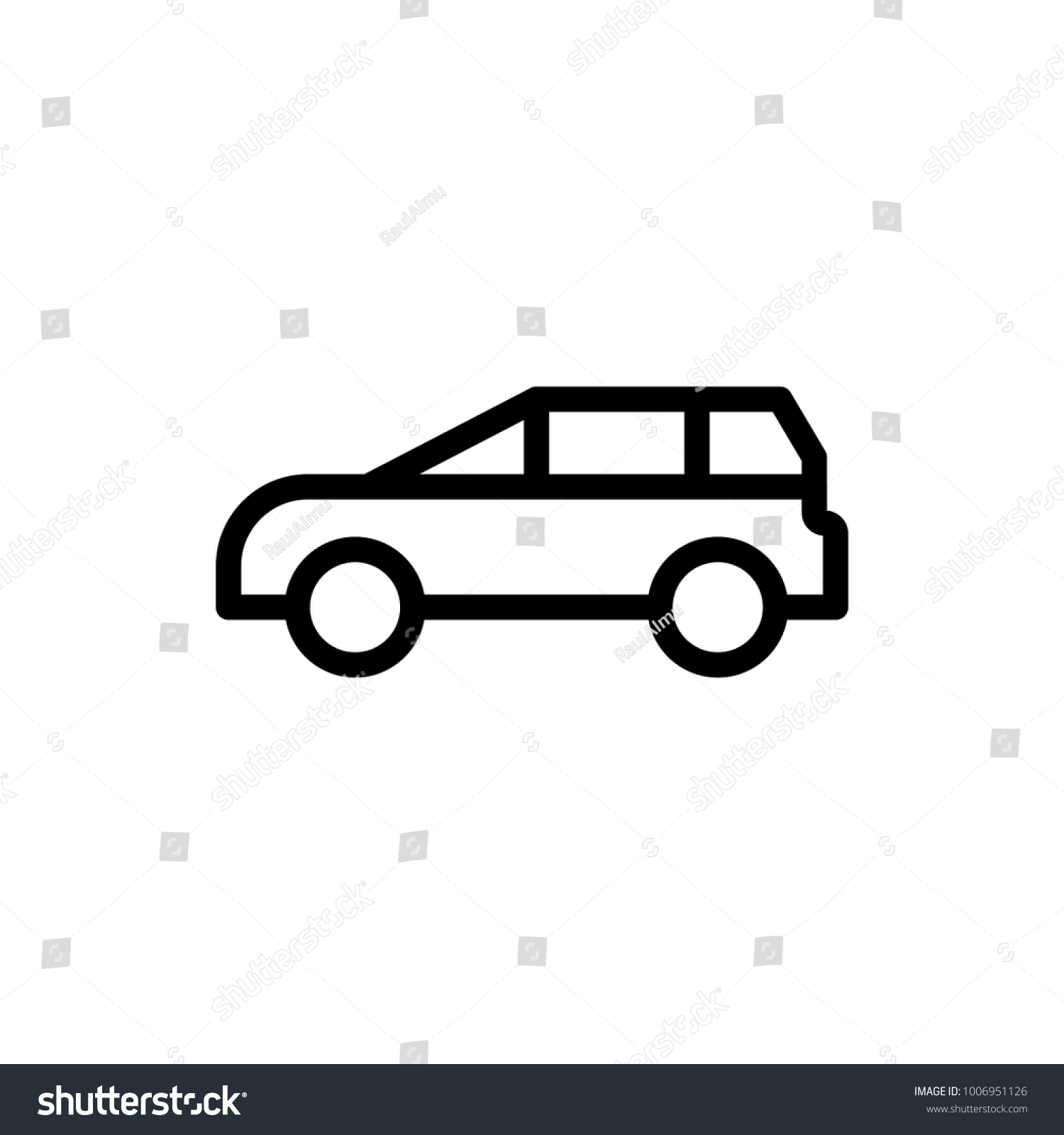 Car Flat Icon Single High Quality Stock Vector 1006951126 Shutterstock