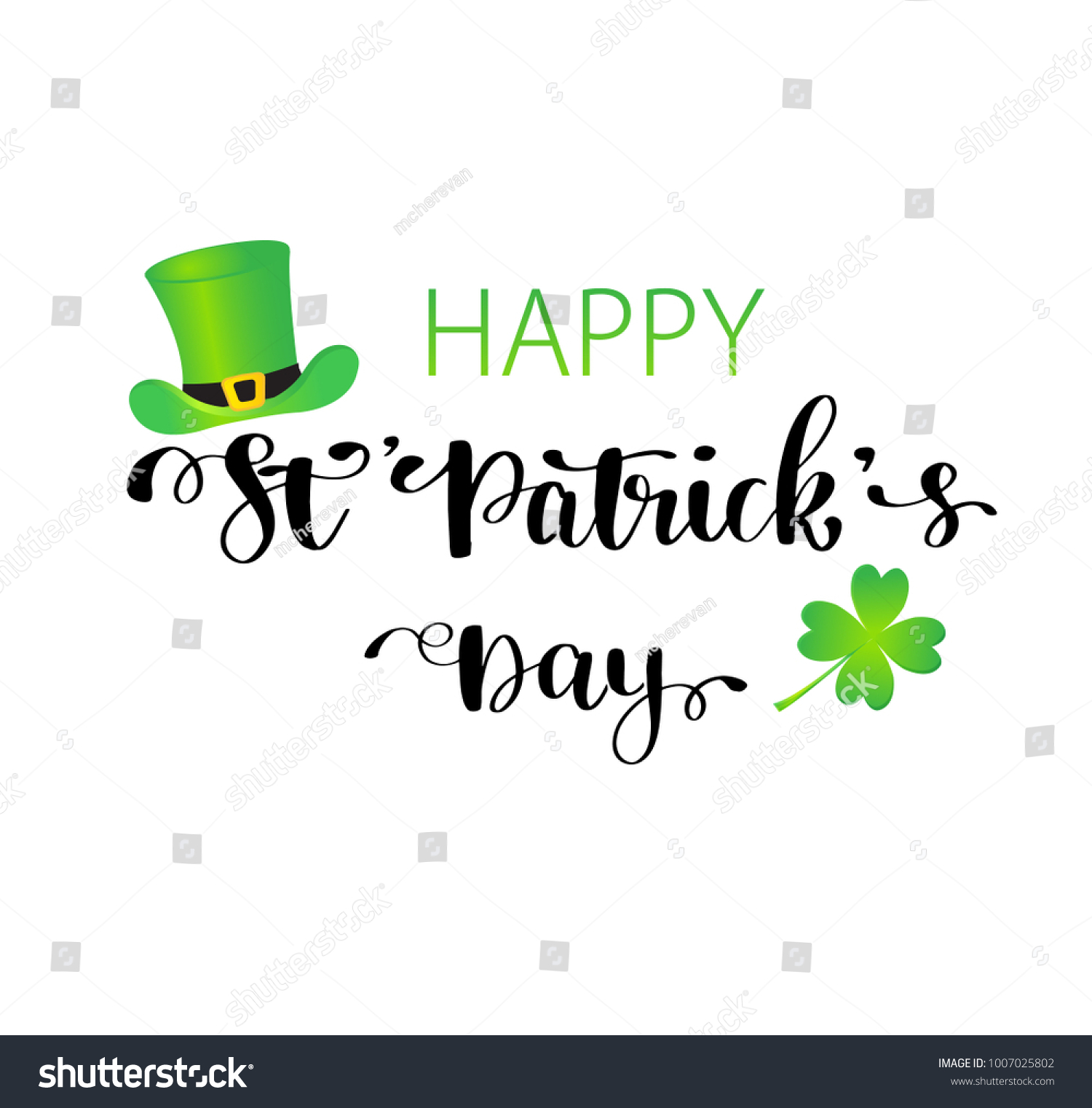 St Patricks Day Greeting Card Poster Stock Vector Royalty Free