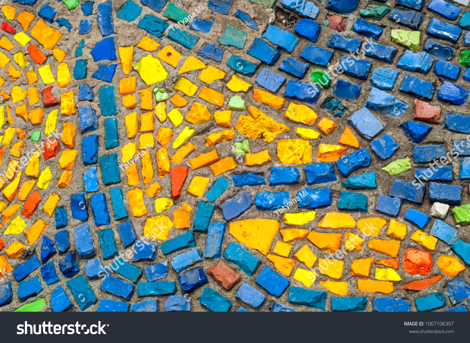 Texture, background, pattern. Closeup photo of multi-colored mosaic ...