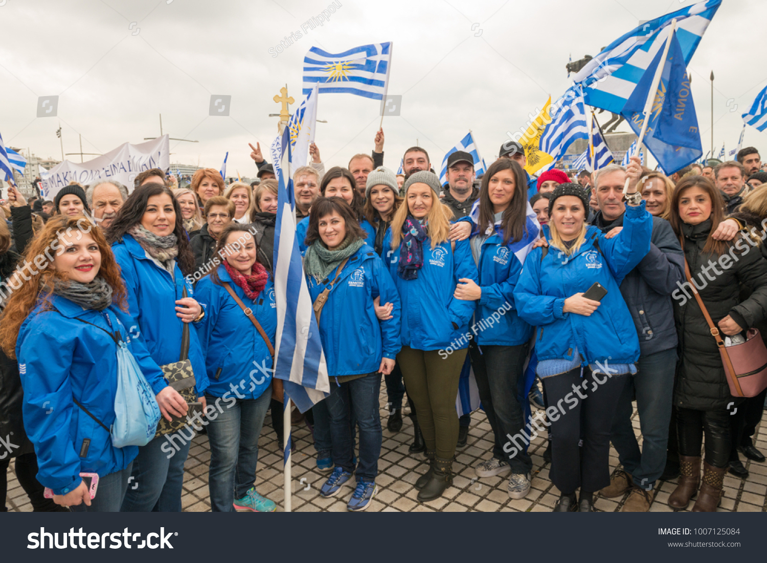 thessaloniki greece 01212018 unknown greek people stock photo edit