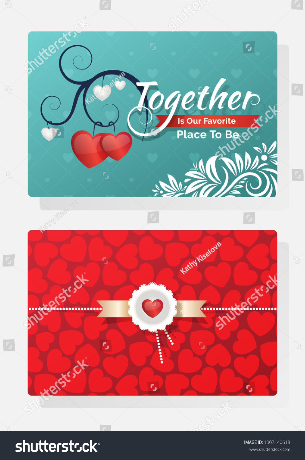 Romantic Valentines Day Invitation Card Text Stock Vector (Royalty ...