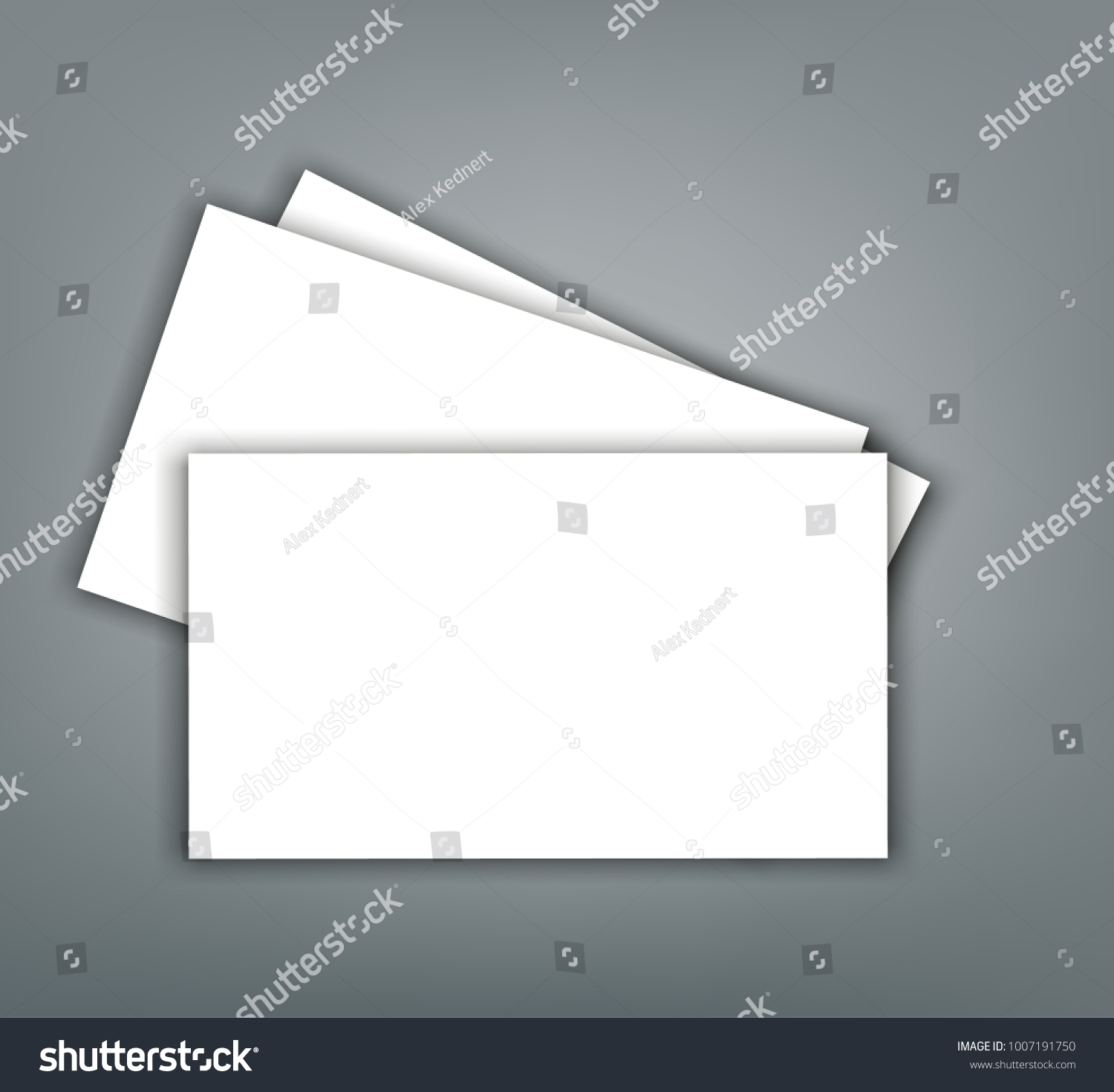 Blank Business Card Shadow Mockup Cover Stock Vector 1007191750 ...