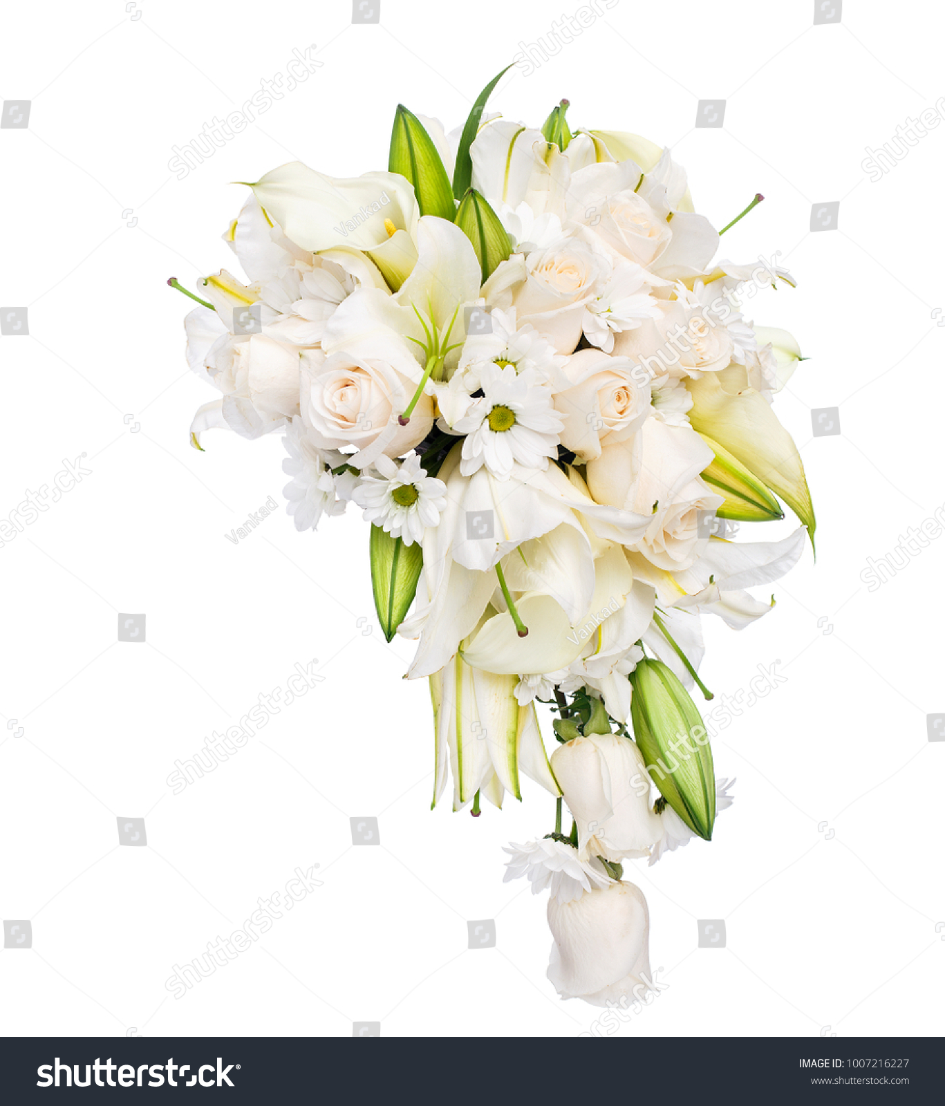 Flower Bouquet Roses Lillies Camomile Stock Photo Edit Now