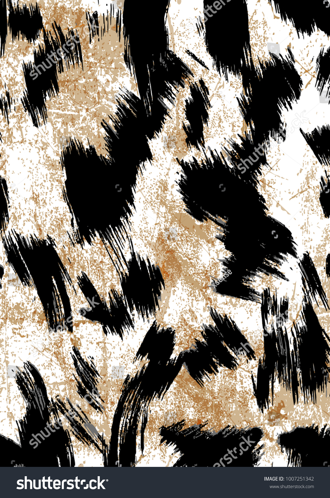 Leopard pattern design, vector illustration background