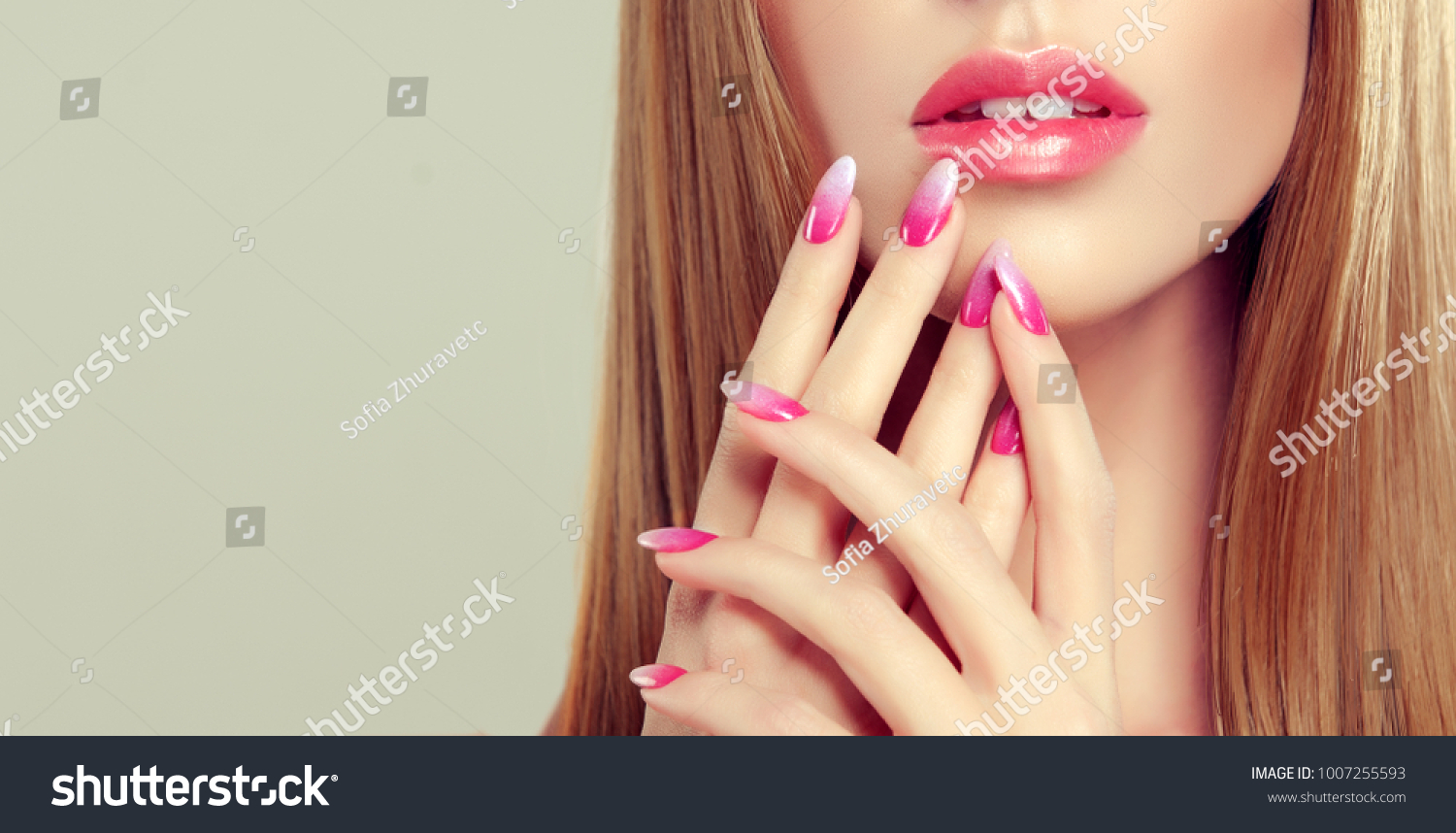 Beautiful Girl Long Straight Hair Model Stock Photo (Download Now ...