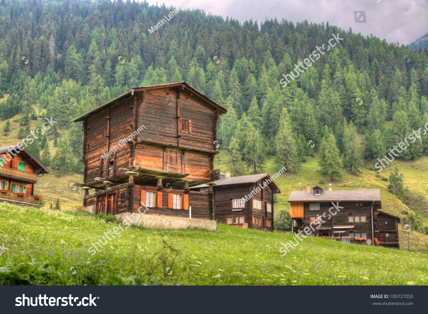 Small swiss village settlement withered wooden stock photo 100727050 shutterstock - The tiny house village a miniature settlement ...