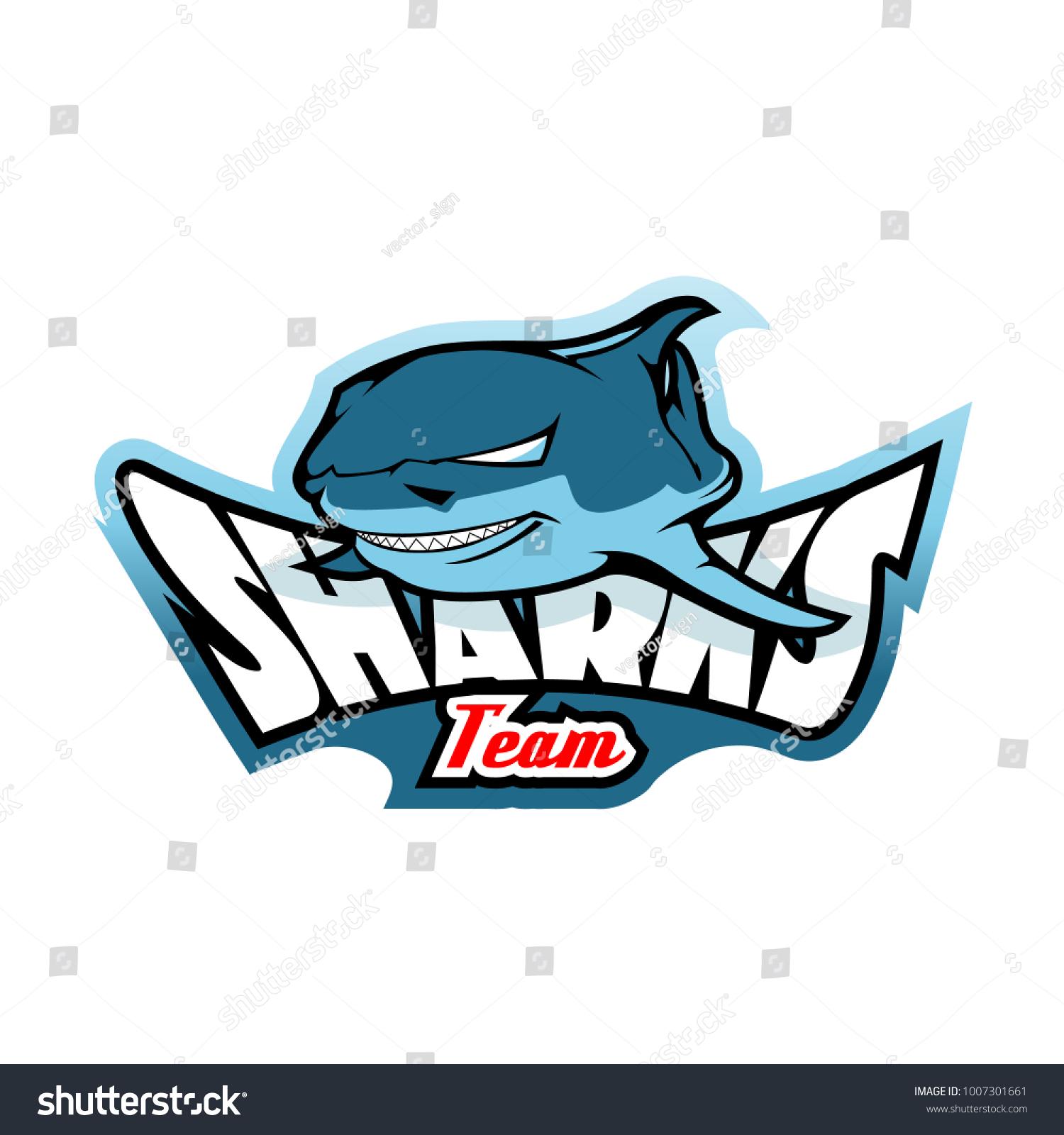 shark logo template のベクター画像素材 ロイヤリティフリー
