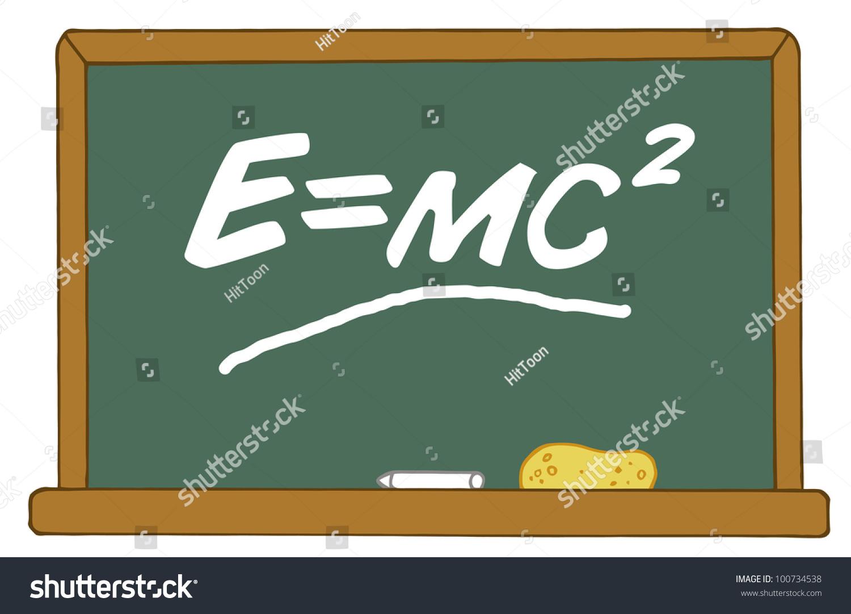 Mass energy equivalence equation e equals stock vector