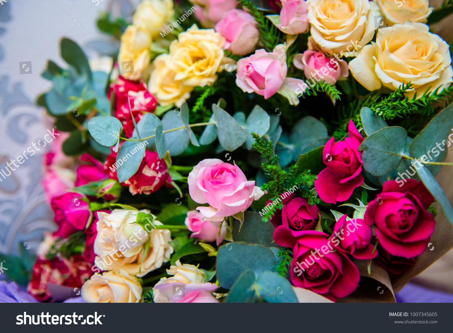 Colorful bouquet flowers stock photo edit now 1007345605 colorful bouquet of flowers izmirmasajfo