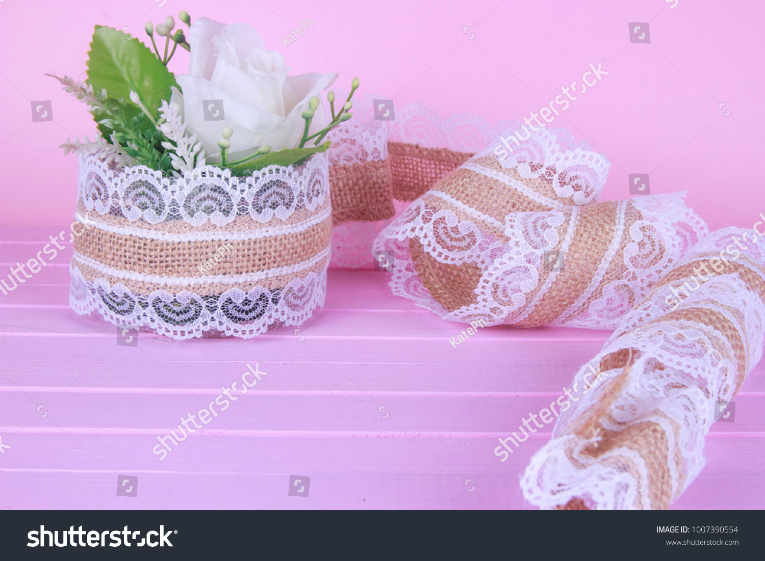 Small White Gyp Flower Bouquet Silver Stock Photo (Royalty Free ...