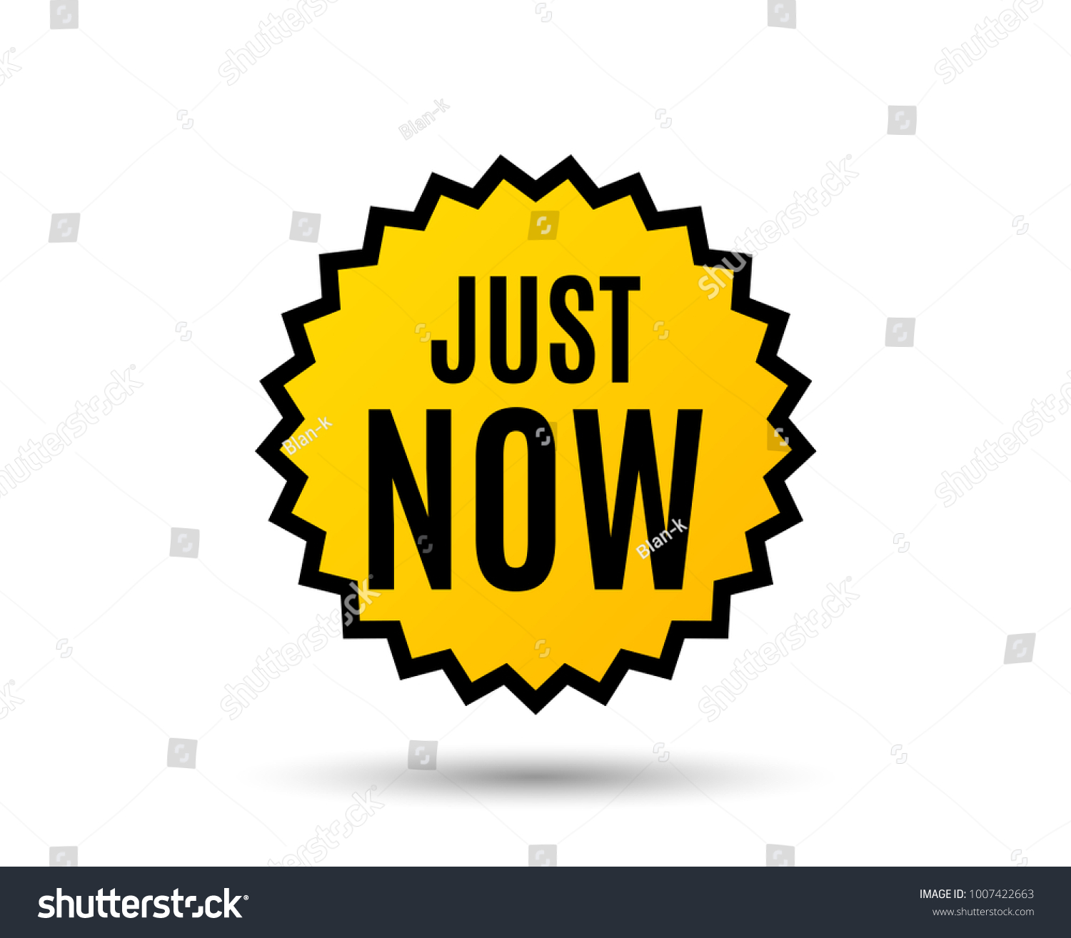 Just now symbol special offer sign stock vector 1007422663 just now symbol special offer sign sale star button graphic design element buycottarizona