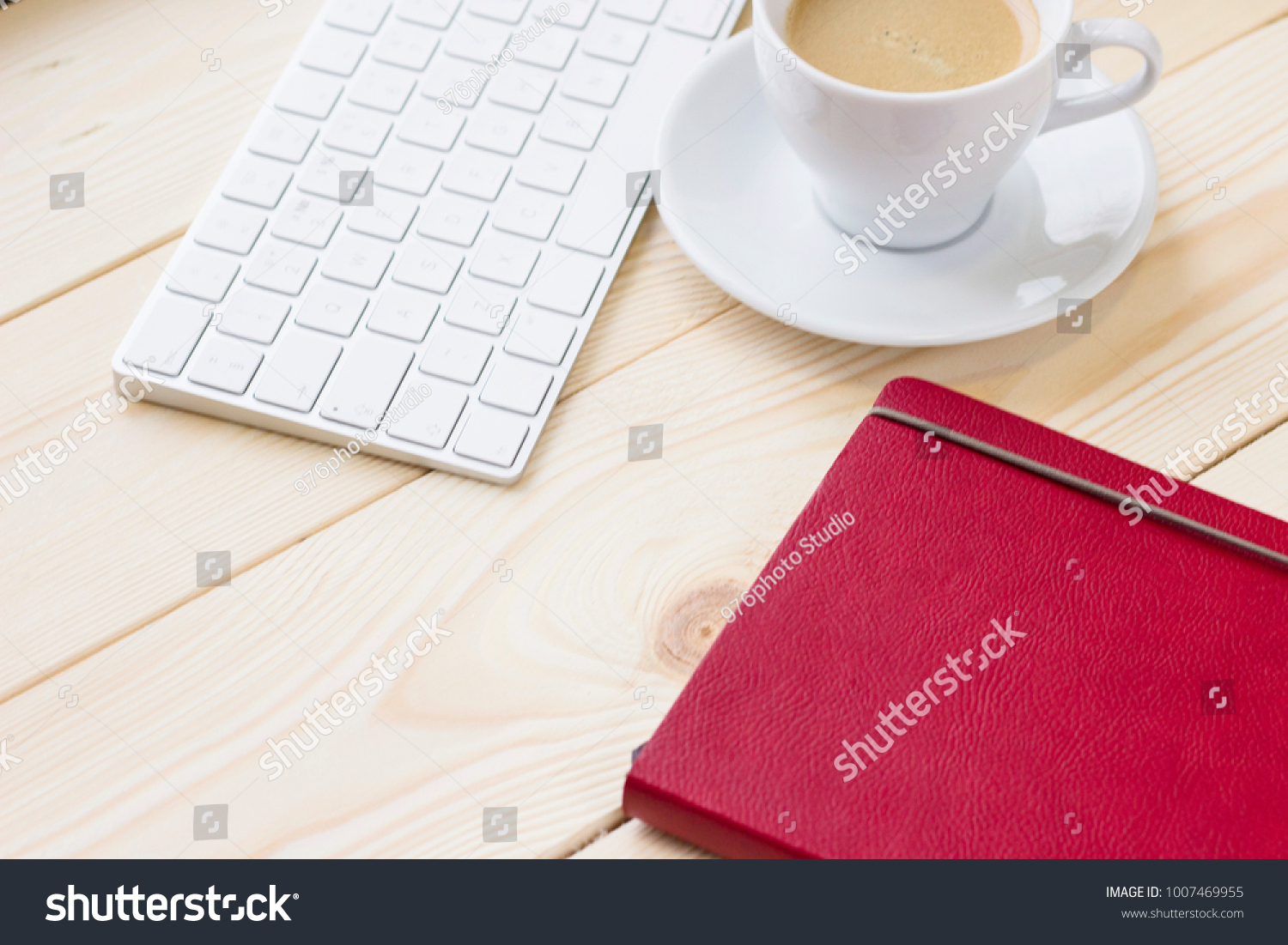 Stylish Business Office Home Workplace Concept Stock Photo (Royalty ...