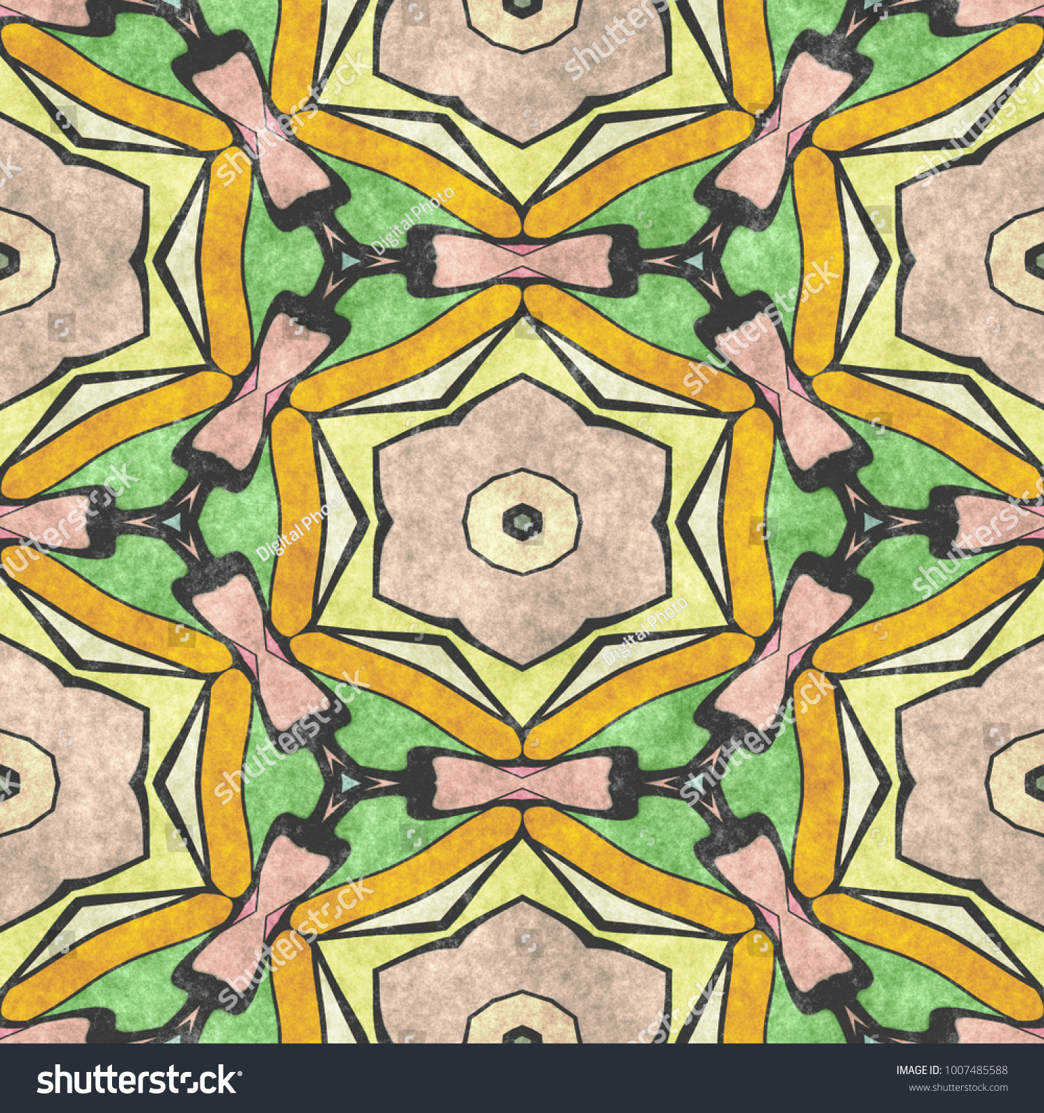 Sacred Geometry Ornament Mosaic Ancient Geometric Stock Illustration ...